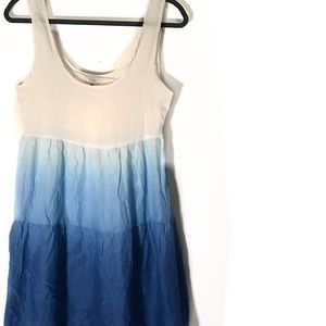 TOBI blue watercolor dress